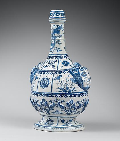 Delft Dutch ceramic flask
