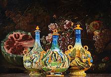Maiolica Pilgrim Flask collectors piece.