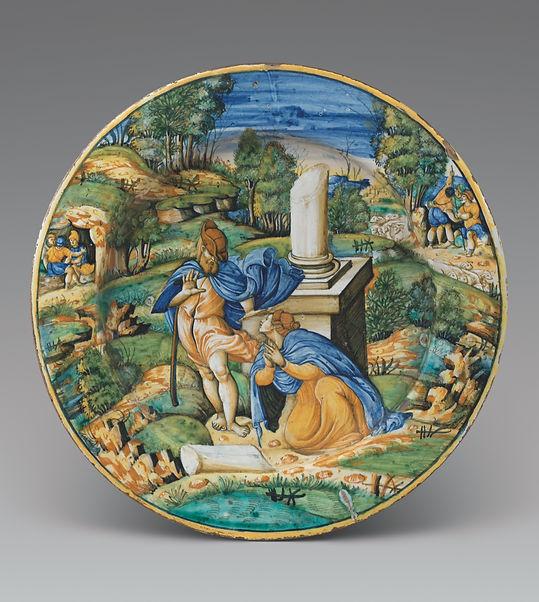 Rare urbino allegorical plate