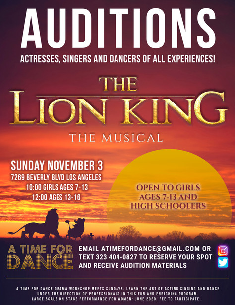 Audition Announcement Below!