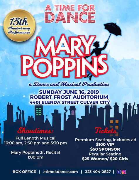 14 Days left to get tickets to Mary Poppins the Musical!