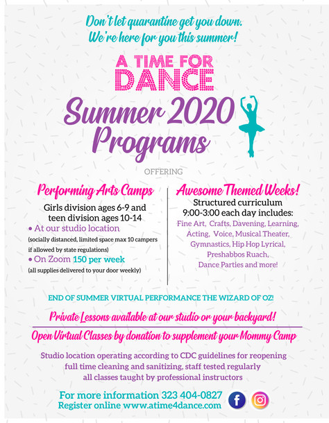 Announcing Our 16th Annual Summer Camp 2020!
