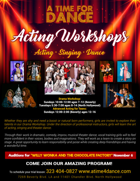Acting Workshops and Show Announcement