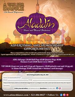 Aladdin 2021 ADVERTISING AND SPONSORSHIP