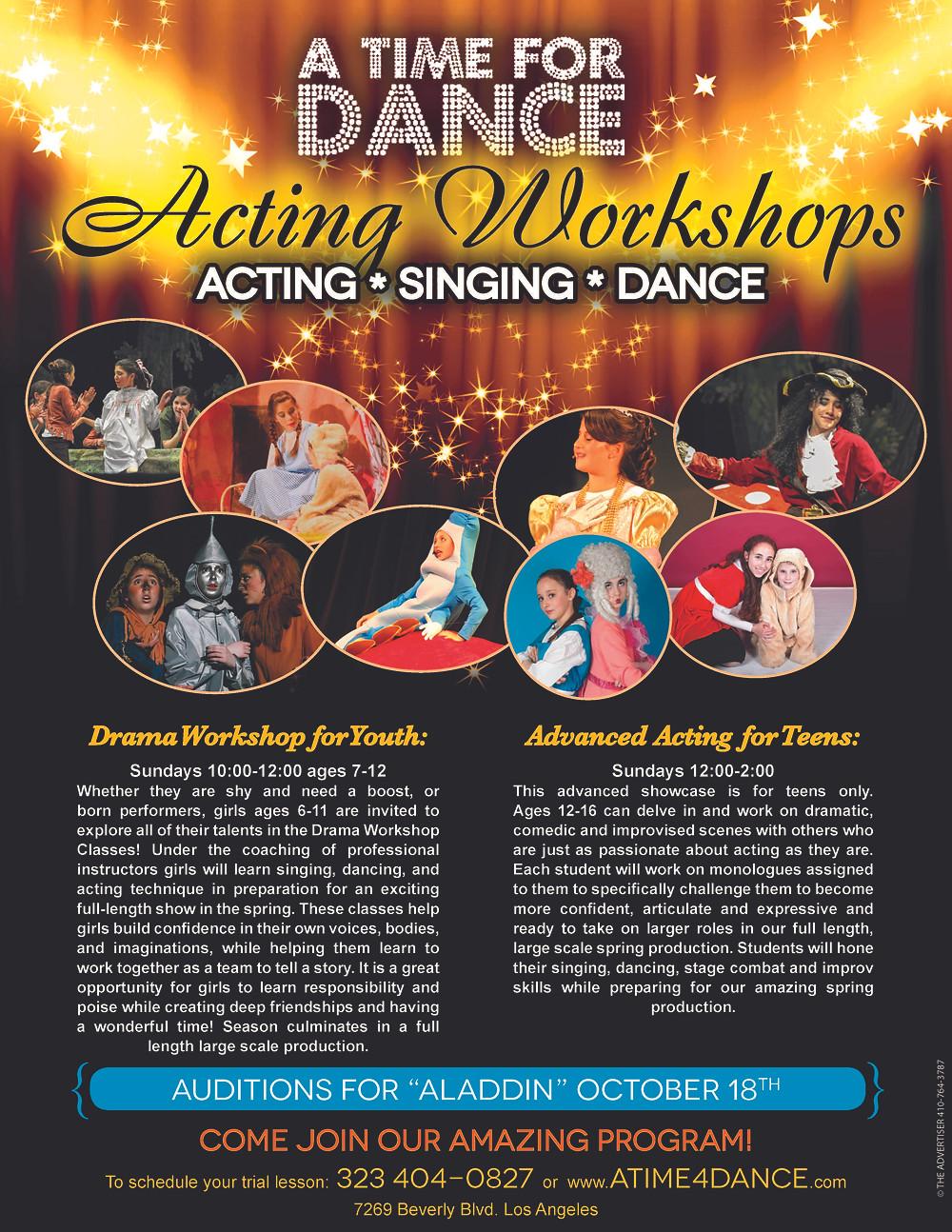 Acting Workshop flier