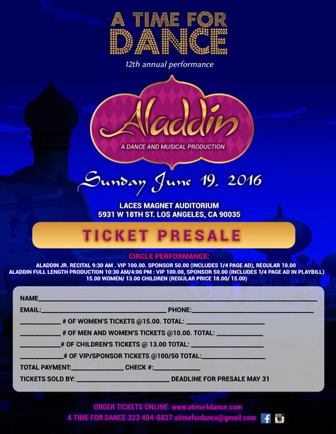 Aladdin Pre Sale!  Box Office Open!