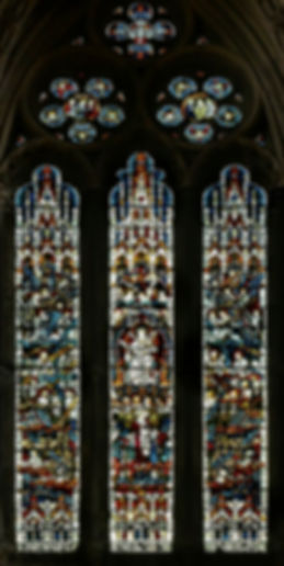 The first of two Great Eastern Windows by James Powell & Sons at Romsey Abbey dedicated to Lord Mount Temple.