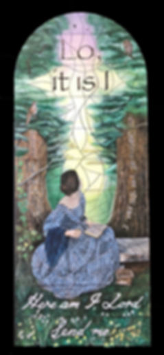 An illustration of the proposed Sophie Hacker stained glass window to comemmorate the bicentenary of Florence Nightingale