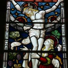 Detail 'The Crucifixion' St  Ethelflaeda's Chapel