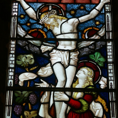 Detail 'The Crucifixion' St  Ethelflaeda's Chapel