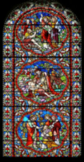 One of three high quality photographs of Alexander Gibbs windows at Romsey Abbey.