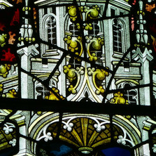 Detail 'The Epiphany' Window St Annes Chapel