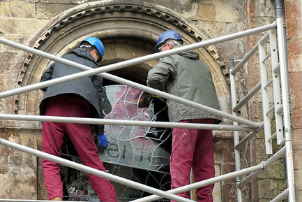 New stained glass window installed at Romsey Abbey