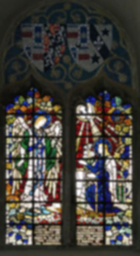One of many James Powell stained glass windows at Romsey Abbey
