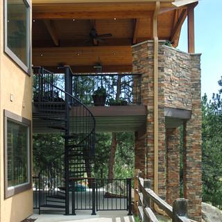 Deck Railing & Spiral Staircase