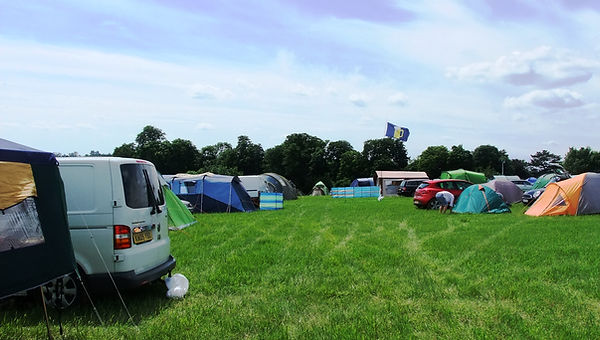 Camping at Gate to Southwell Festival, tents, campervans, motorhomes, campers, family camping,