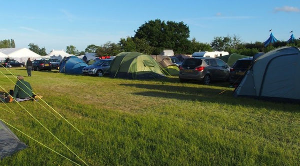 plenty of space for tents and caravans at Gate to Southwell Festival