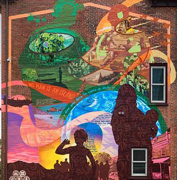 The Veterans Freedom Mural Dedication