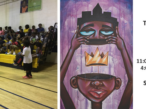 "Getting the community involved: ""The Divine Mind"" Mural by Terrance Vann"