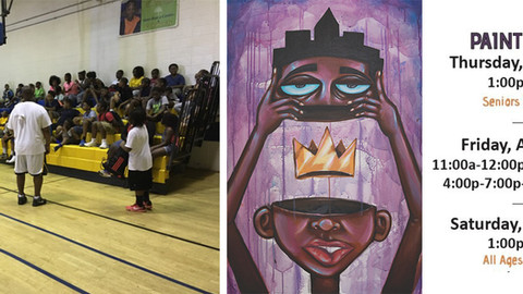 """Getting the community involved: """"The Divine Mind"""" Mural by Terrance Vann"""