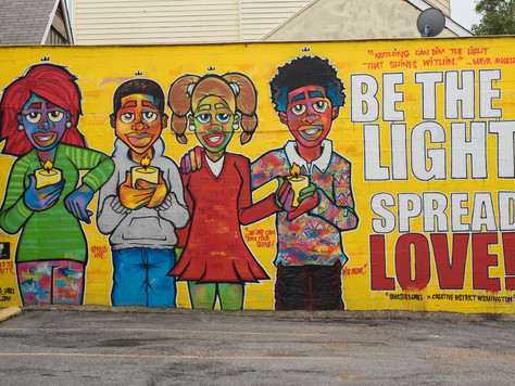 """Be the Light, Spread Love"" Mural Dedication - August 5"