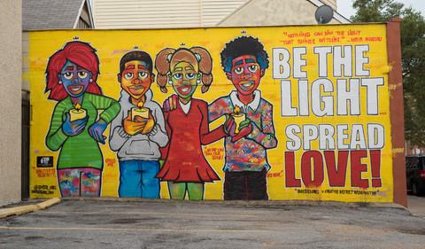 """Be the Light, Spread Love"" Mural Dedication - August 5"