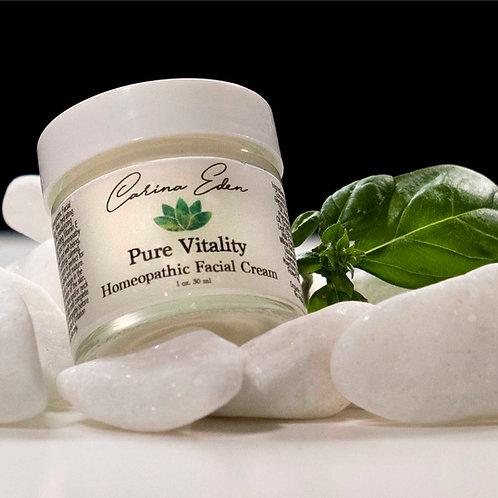 Pure Vitality Homeopathic Facial Cream  -  1 oz