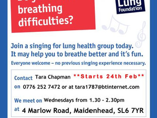Vote for Singing for Lung Health Maidenhead!