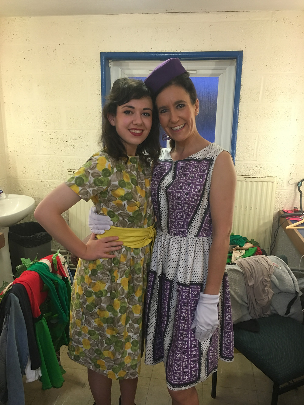 Angie and Alice backstage.