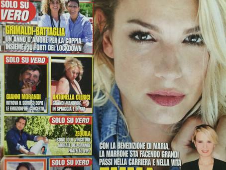 """Article du magazine """"Vero"""" numéro 26 02/07/2020 traduction en français"""