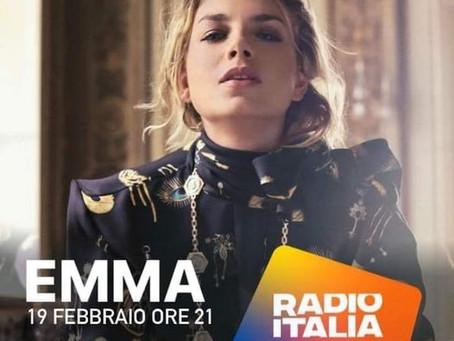 Emma appuntamento su Radio Italia live
