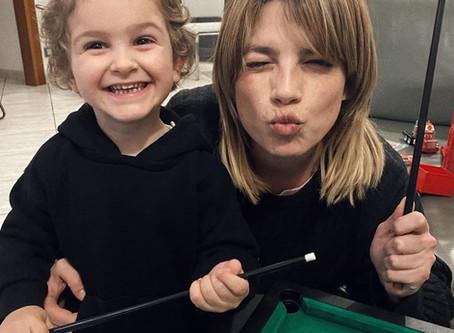 Emma Marrone e suo nipote Marchino/et son neveu