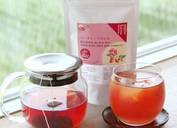 Japanese black tea with rosehip