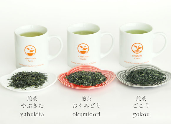 Sencha tea bag comparison set
