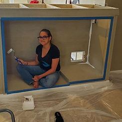 Cristal Painting Aquarium Stand
