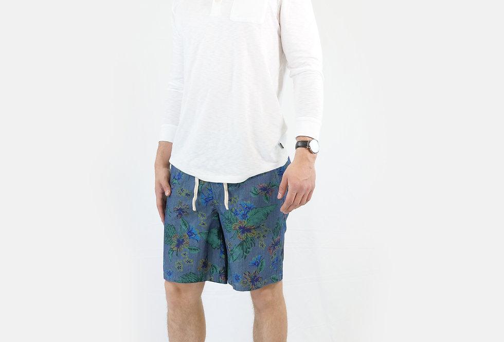 SUPERDRY - Pantaloncino sunscorched chino chambray Hawaiian