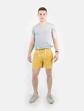 SUPERDRY - Pantaloncino cord cali beach sun storm gold