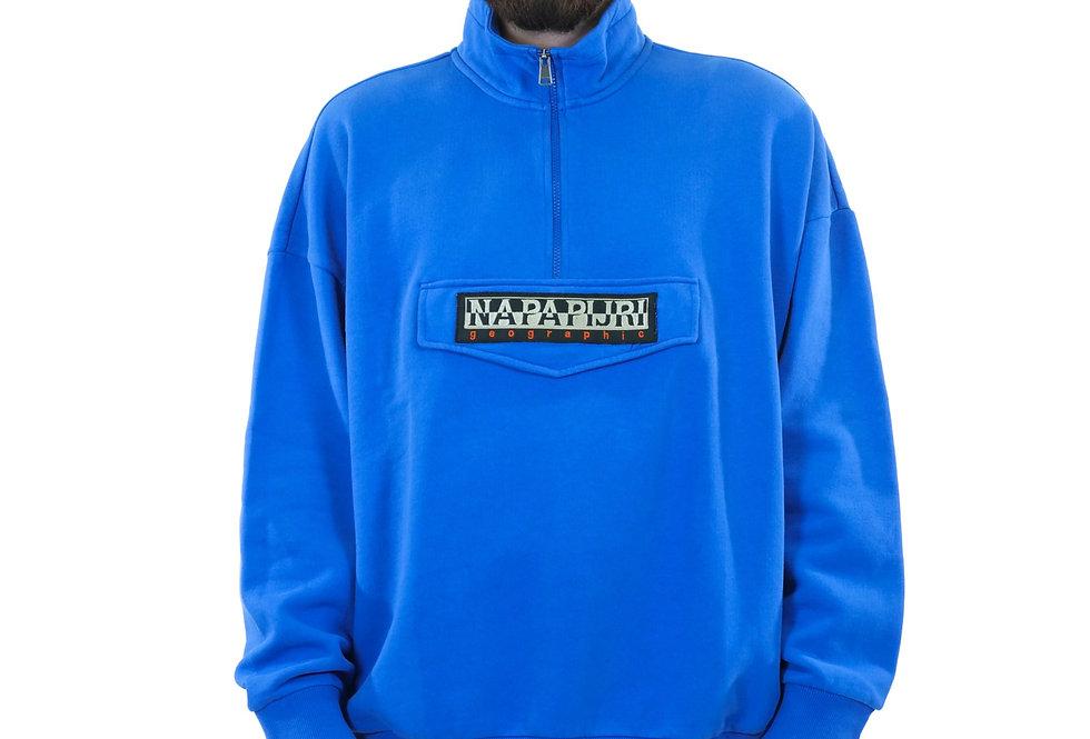 NAPAPIJRI - Maglione mezza zip blue snorkel