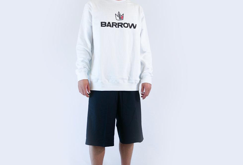 BARROW - Felpa bianca con stampa