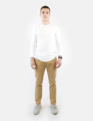 SUPERDRY - Pantalone taper canvas chino malt