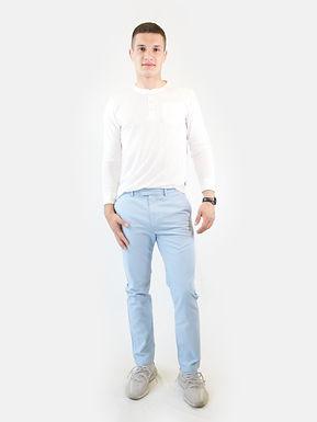 SUPERDRY - Pantalone cotone studios chino china blue