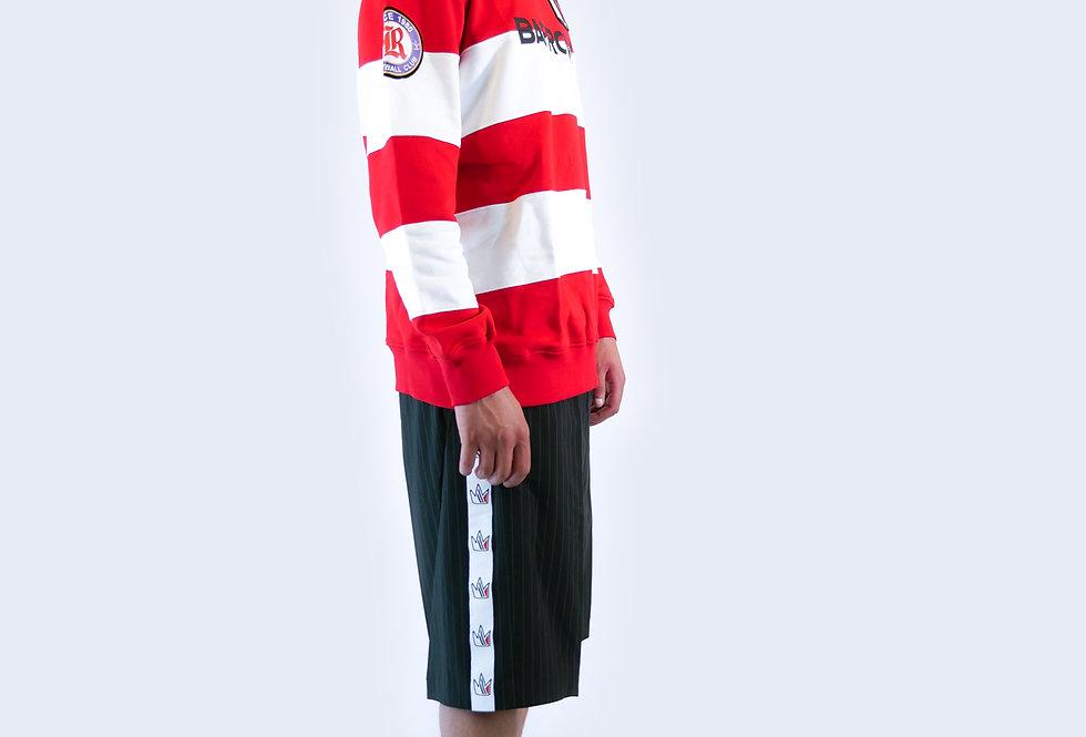 BARROW - Felpa a righe rosse e bianche