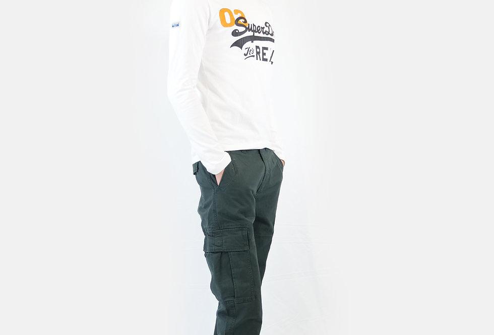 SUPERDRY - Pantalone uomo officers slim chino