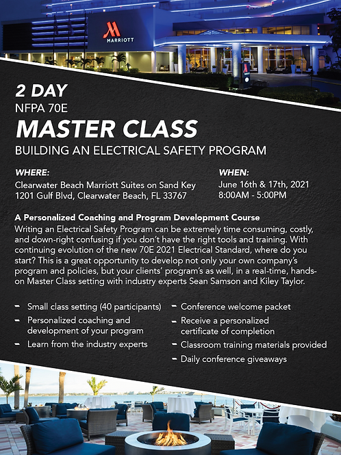2 Day NFPA 70E Master Class: Building An Electrical Safety Program