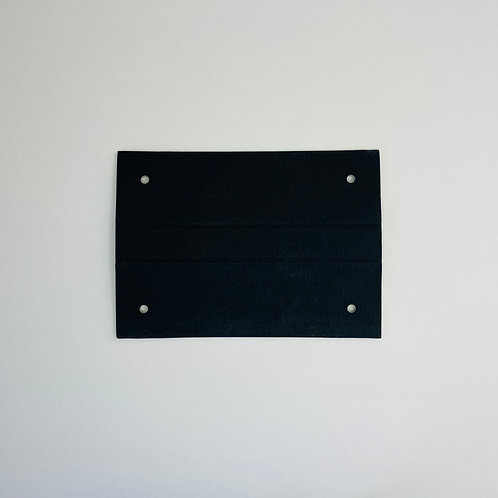 100x black brillianta bookclothheader clips