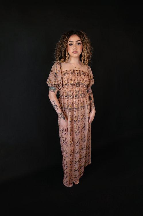 Sueños Printed Long Dress
