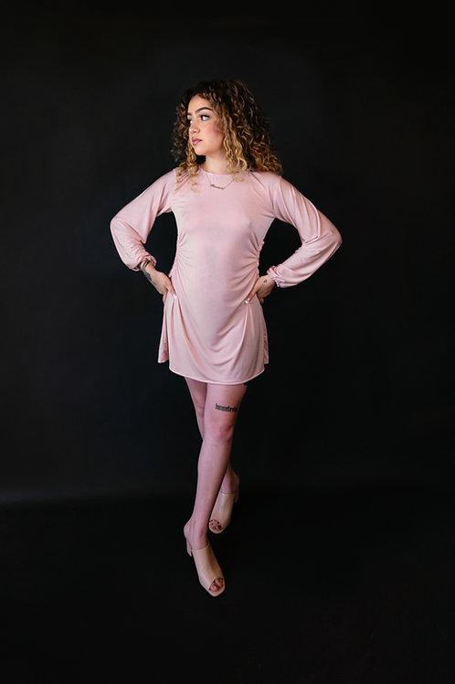 Open Side Slinky Mini Dress