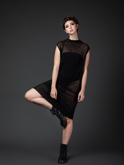 Long Soft Mesh Dress