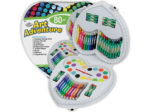 Art Adventure 80pce Set - Heart Shape