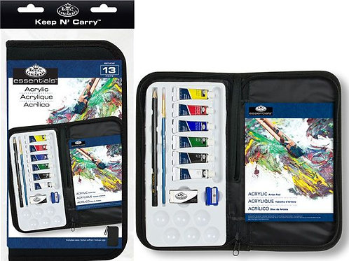 Keep N Carry Acrylics Painting Set With Artist Pad
